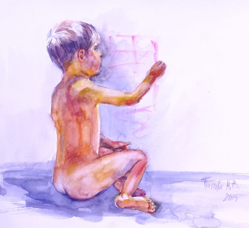 Фигура 1 - Третий быстрый этюд Наталии Поповой - Профессионального Художника марафон 8минутки День Девятый и Десятый