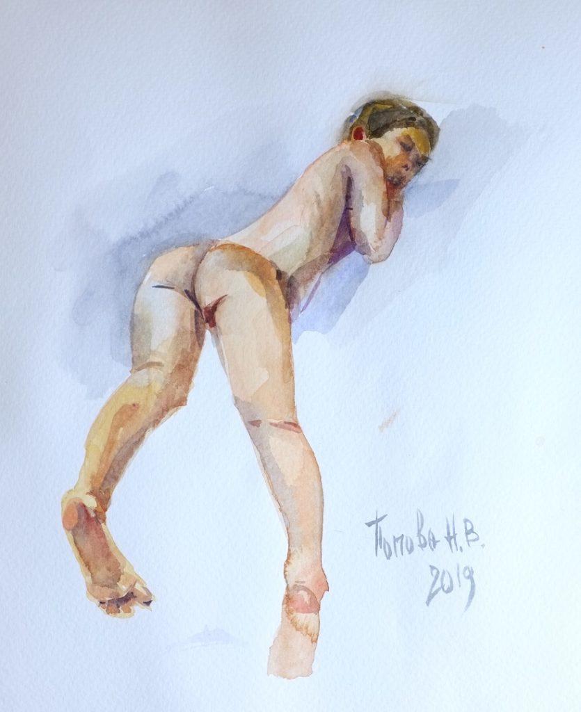 Фигура 3 - Пятый быстрый этюд Наталии Поповой - Профессионального Художника марафон 8минутки День Девятый и Десятый