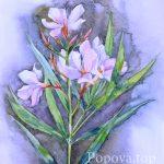 Солнце в лепестках - Картина Акварель А4 Написана Наталией Поповой - Профессиональным Художником в 2019 году