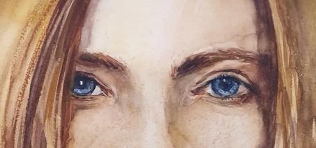 Фрагмент Картины Бархатная красотка Написанной Наталией Поповой - Профессиональным Художником в 2020 году