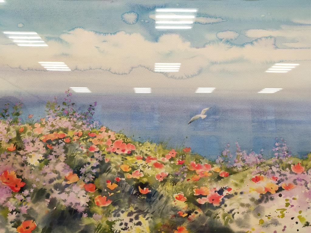 Фрагмент 5 картины с выставки Елены Базановой фото Наталия Попова - Профессиональный Художник Февраль 2020 год
